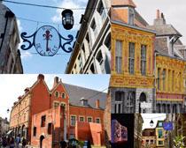 歐美城市建筑房屋攝影高清圖片