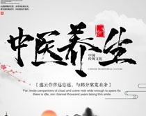 养生堂中国风文化海报PSD素材