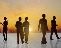 職業商務剪影人物攝影高清圖片