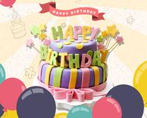 快乐生日蛋糕海报PSD素材