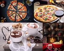 披萨爆米花食物摄影高清图片