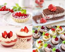 草莓蛋糕甜品摄影高清图片