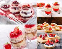 草莓甜点蛋糕摄影高清图片