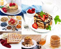 蜂蜜面饼零食摄影高清图片