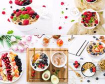营养麦片水果早餐摄影高清图片