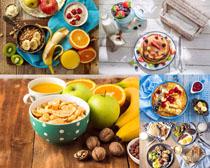 橙子香蕉苹果面饼摄影高清图片