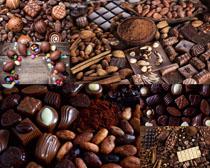 果仁巧克力食物摄影高清图片