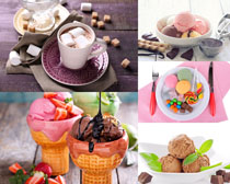咖啡冰淇淋甜品摄影高清图片