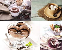 甜美冰淇淋巧克力摄影高清图片