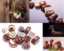 杏仁巧克力甜品摄影高清图片