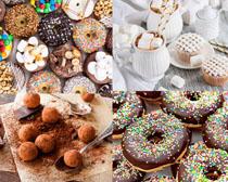 甜甜圈圈美食摄影高清图片