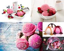 粉色冰淇淋食物摄影高清图片