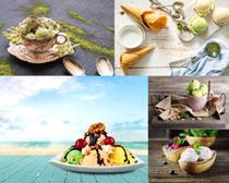 夏日冰淇淋冷饮展示摄影高清图片