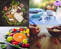 葡萄蓝莓水果展示摄影高清图片
