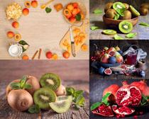 猕猴桃石榴水果拍摄高清图片
