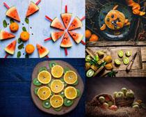 西瓜苹果柠檬水果摄影高清图片