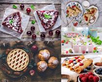 面包饼水果拍摄高清图片