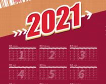 2021牛年日历PSD素材