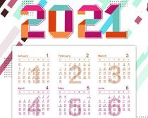 2021日历挂历设计PSD素材