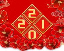福牛贺春2021年日历PSD素材