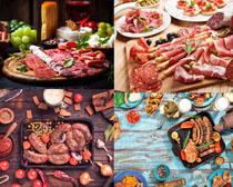 羊肉片火腿美食摄影高清图片