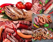 香肠火腿西红柿摄影高清图片