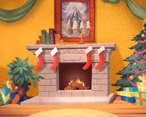 圣诞节装饰室内海报高清图片