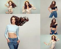 欧美时尚女模特拍摄写真高清图片