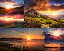 火燒云自然風光景色攝影高清圖片