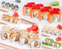 各种寿司美食展示摄影高清图片