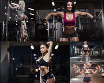 健身房的性感美女拍摄高清图片