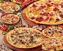 各种披萨美食展示摄影高清图片