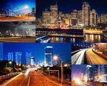 繁華都市城市建筑風光拍攝高清圖片