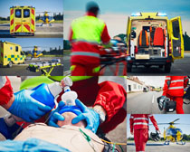医疗救护人员拍摄高清图片