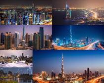 美麗的城市夜景風光拍攝高清圖片