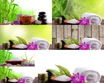 毛巾花朵SPA拍攝高清圖片