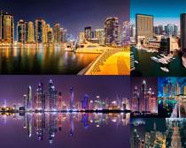 美麗的夜景都市風光拍攝高清圖片