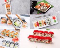 美食寿司展示拍摄高清图片