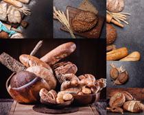 麦子面包早餐摄影高清图片