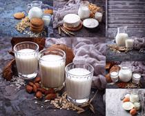 牛奶饼干食物摄影高清图片