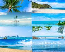 蓝天大海海岛风光拍摄高清图片