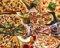 披萨薯条美食拍摄高清图片