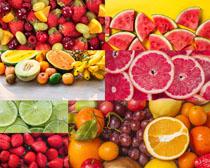 新鮮美味水果展示攝影高清圖片