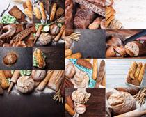 早餐麥子面包攝影高清圖片