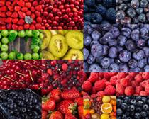 草莓櫻桃藍莓水果拍攝高清圖片