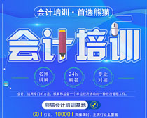 熊猫会计培训广告海报PSD素材