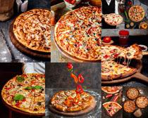 披薩食物展示拍攝高清圖片