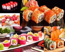 日本三文魚壽司攝影高清圖片