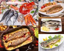 烤魚海鮮美食攝影高清圖片