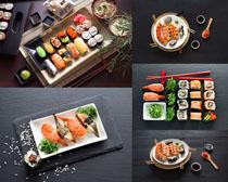 壽司海鮮美味攝影高清圖片